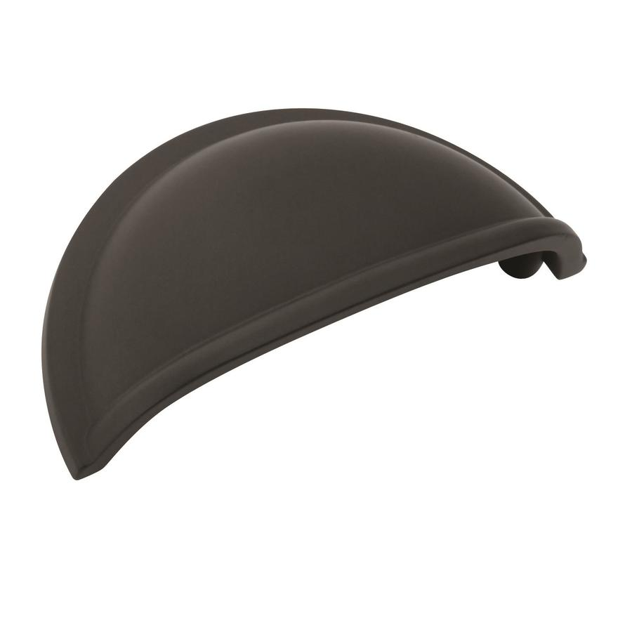 Amerock Cup Pulls 3-in Center to Center Flat Black Oval ...