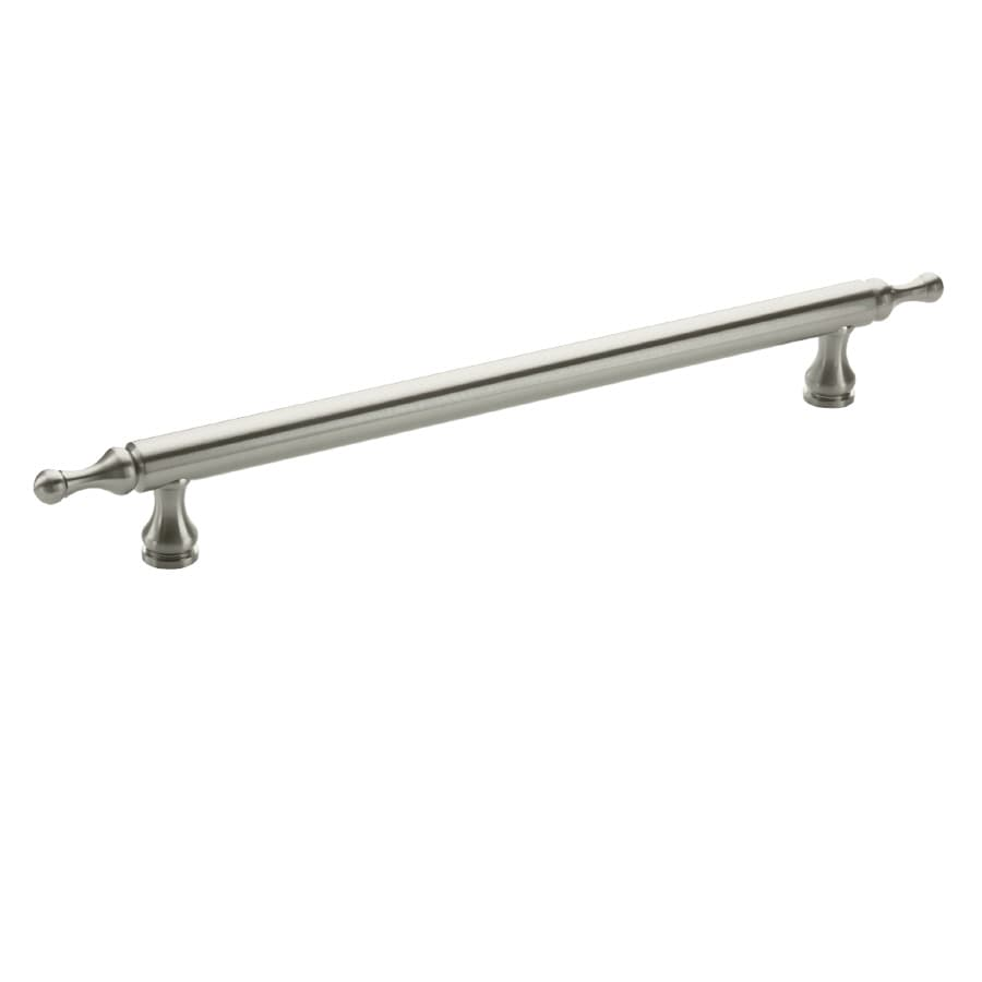Amerock 12-in Center-To-Center Satin Nickel Traditional Classics Bar Cabinet Pull