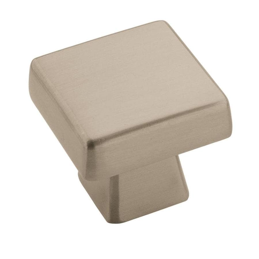 Shop amerock blackrock satin nickel square cabinet knob at for Square kitchen cabinet knobs