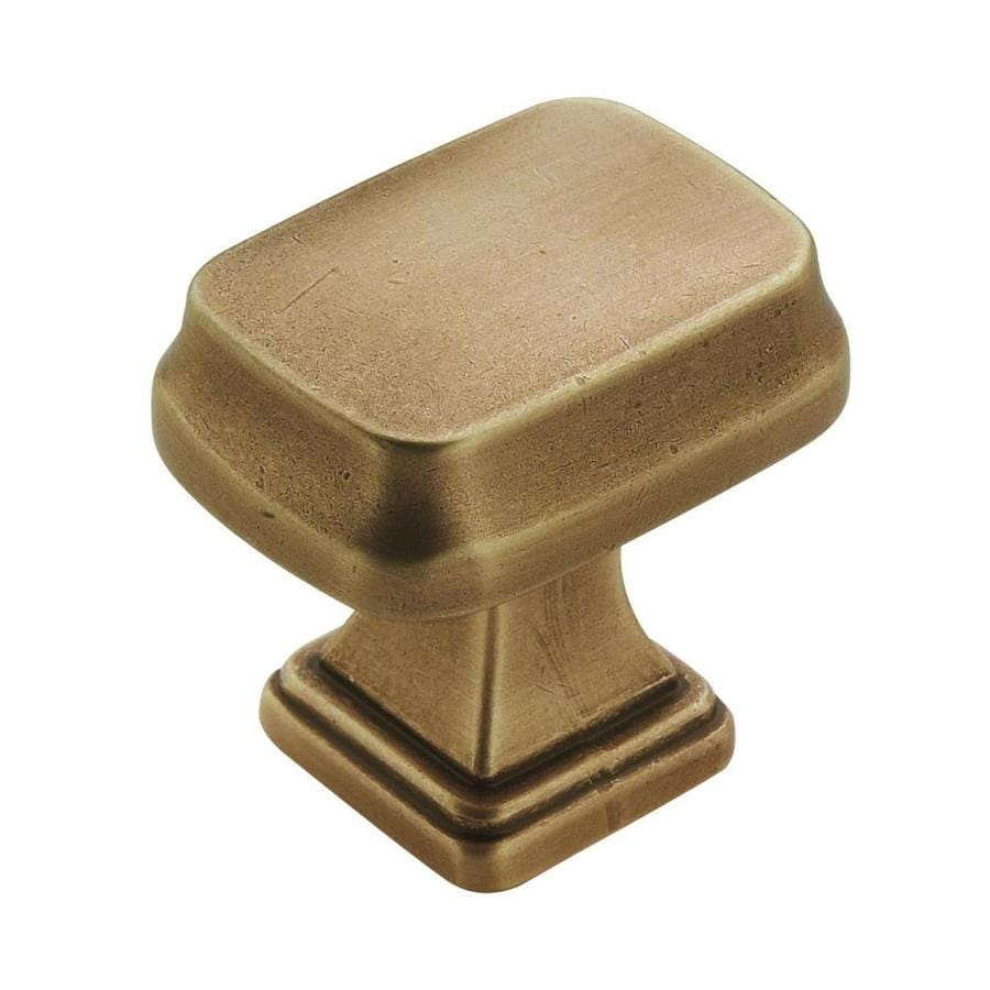 Amerock Revitalize Gilded Brass Square Cabinet Knob