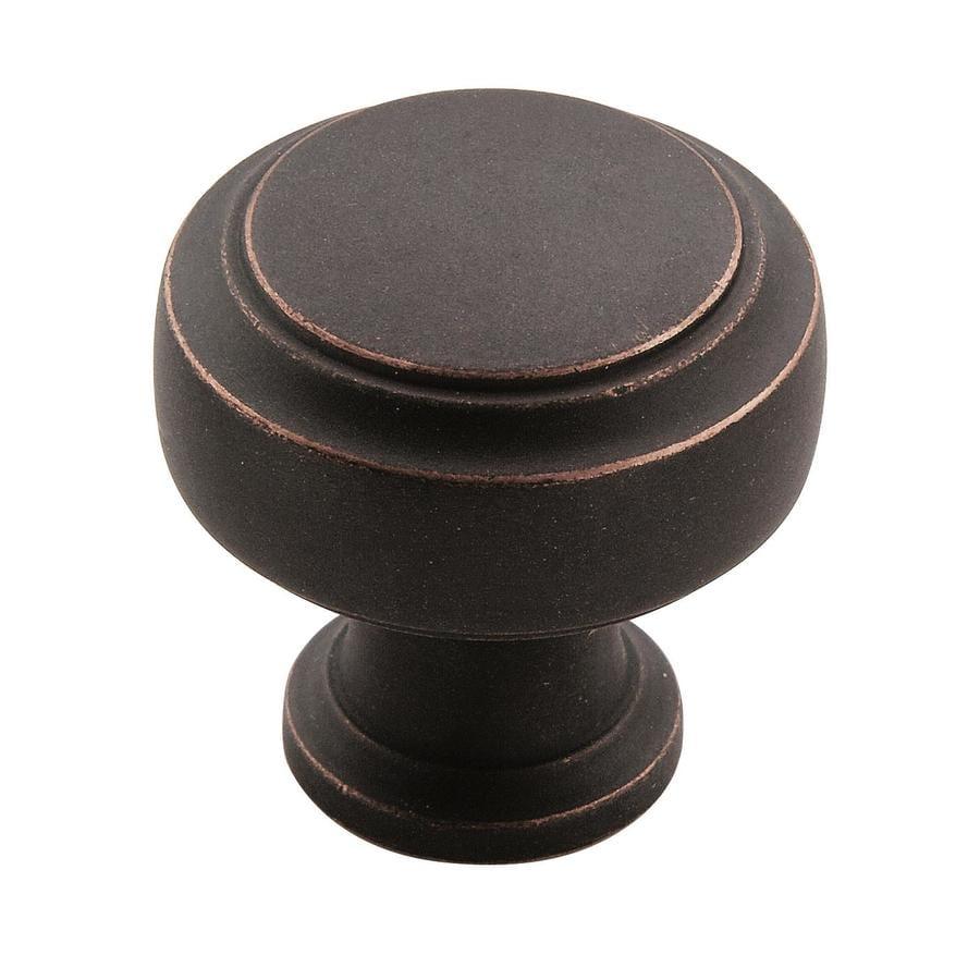 Amerock Highland Ridge Dark Oiled Bronze Round Cabinet Knob