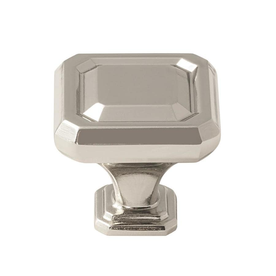 Amerock 25-Pack Wells Polished Nickel Square Cabinet Knobs