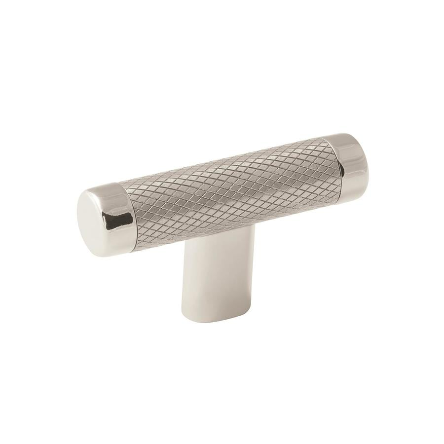 Amerock 25-Pack Esquire Polished Nickel/Stainless Steel Rectangular Cabinet Knobs