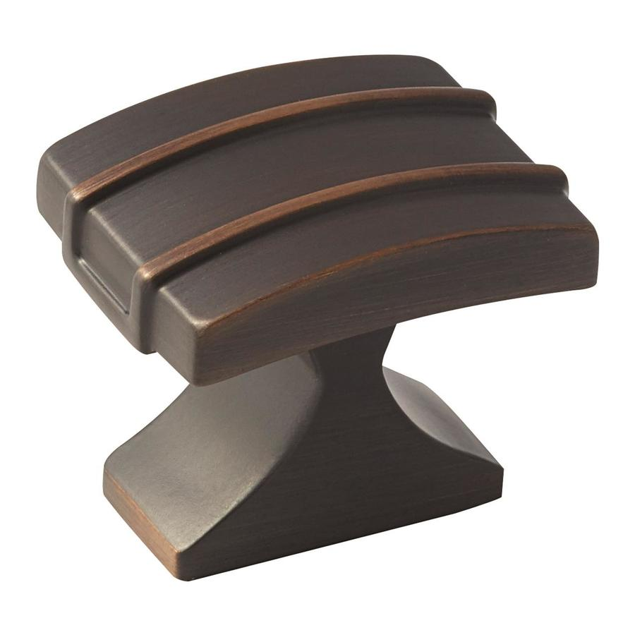 Amerock 25-Pack Davenport Oil-Rubbed Bronze Rectangular Cabinet Knobs
