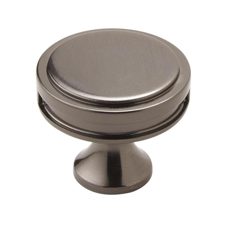 Amerock 25-Pack Oberon Gunmetal Round Cabinet Knobs