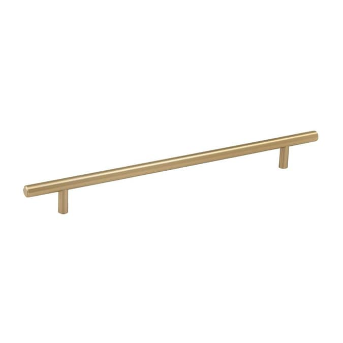 Amerock Bar Pulls 10 1 16 In Center To Center Golden Champagne Rectangular Bar Drawer Pulls In The Drawer Pulls Department At Lowes Com