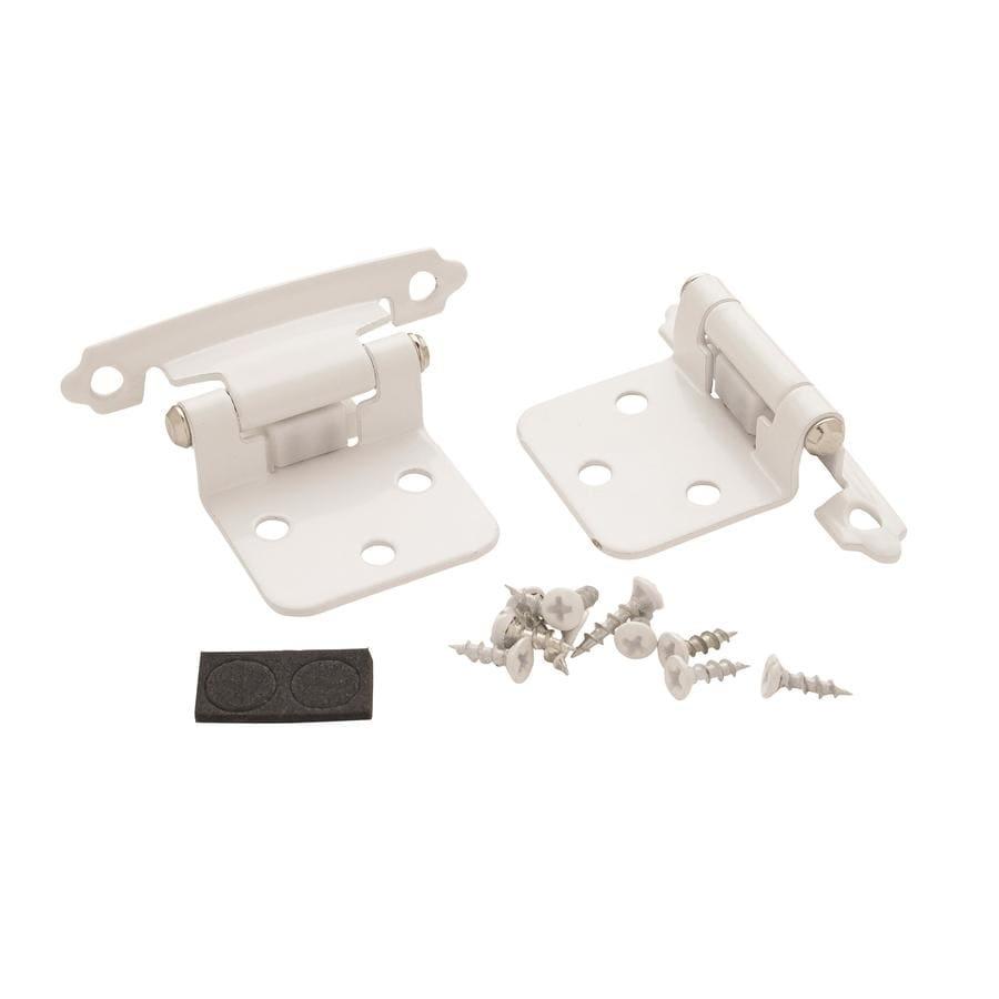 Amerock 2 Pack Adjustable Satin White Self Closing Cabinet