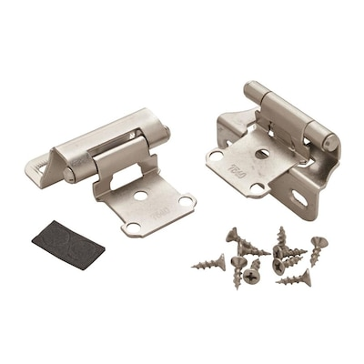 2-Pack 1-1/4-in Satin Silver Self-Closing Cabinet Hinge
