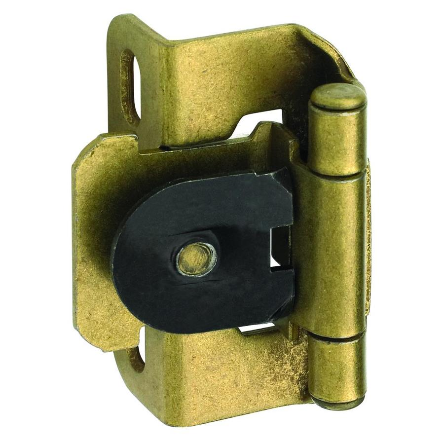 Amerock 2-Pack 1/2-in Antique Gold Self-Closing Lift-Off