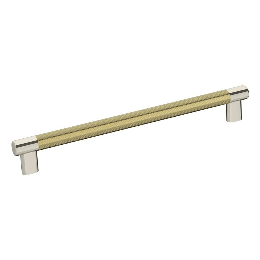 Amerock Esquire 10 1 16 In Center To Center Polished Nickel Golden Champagne Rectangular Bar Drawer Pulls In The Drawer Pulls Department At Lowes Com