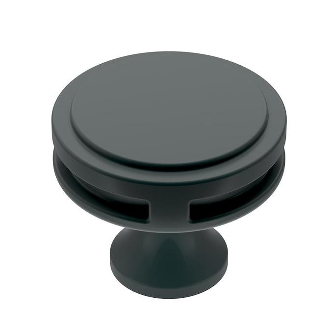 Amerock Oberon 1-3/8 in (35 mm) Diameter Matte Black ...