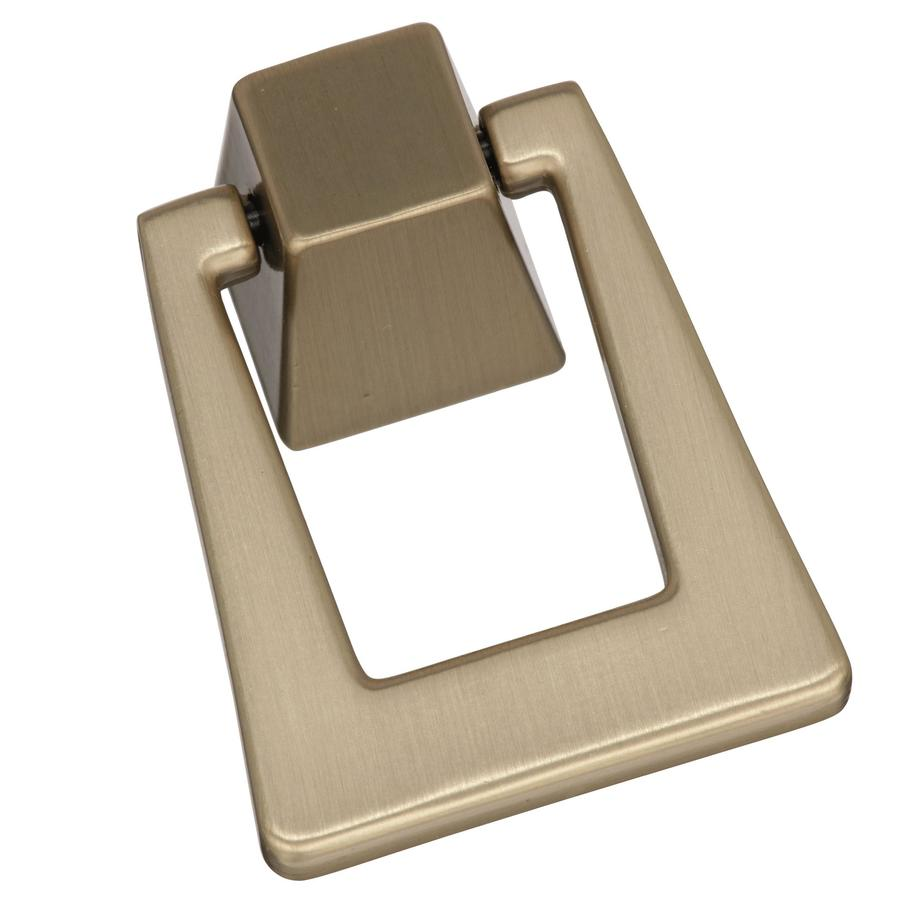 Amerock Blackrock 7/8-in Center to Center Golden Ch&agne Triangular Pendant Cabinet Pull  sc 1 st  Loweu0027s & Shop Amerock Blackrock 7/8-in Center to Center Golden Champagne ...