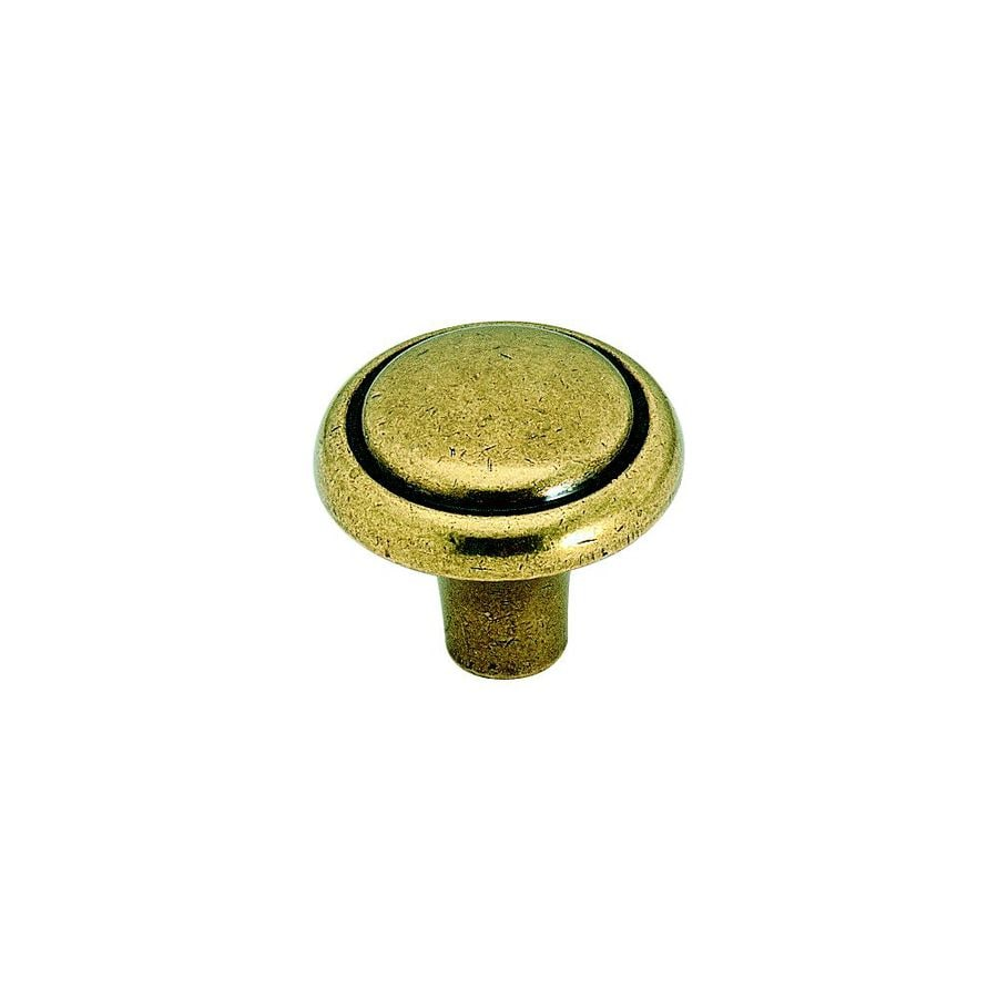 Amerock Brass and Sterling Burnished Brass Round Cabinet Knob