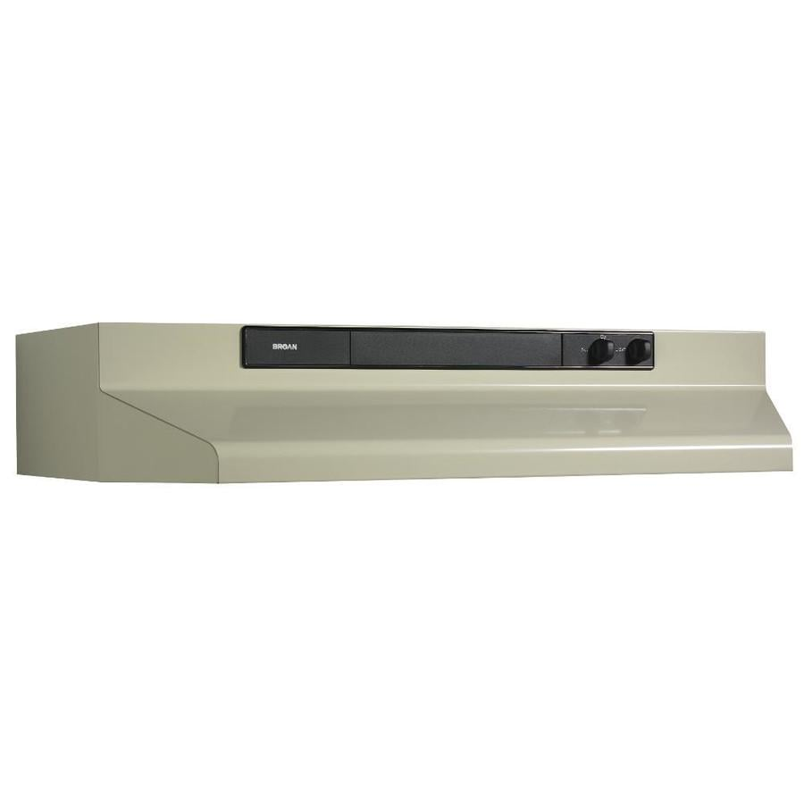 Broan Undercabinet Range Hood (Almond/Black) (Common: 42-in; Actual: 41.87-in)