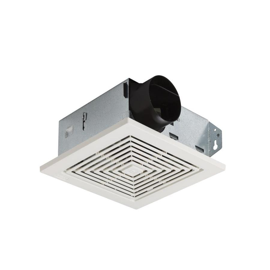 Shop broan 4 sone 50 cfm white bathroom fan at for Bathroom ventilation