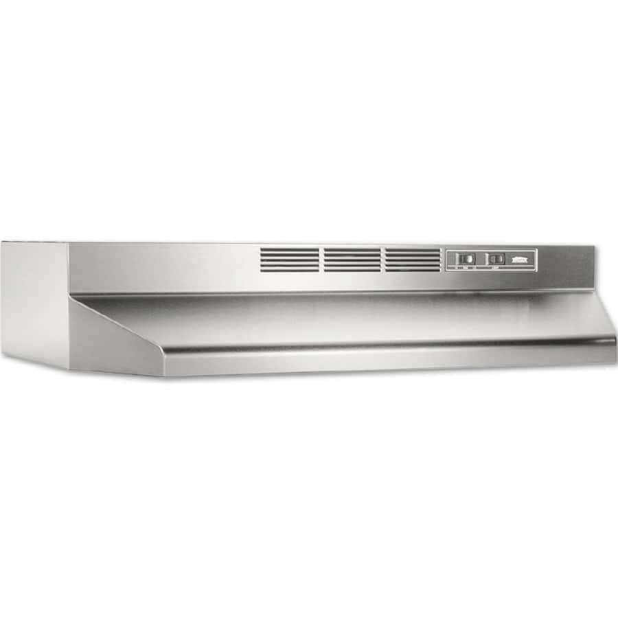 shop broan undercabinet range hood stainless steel black