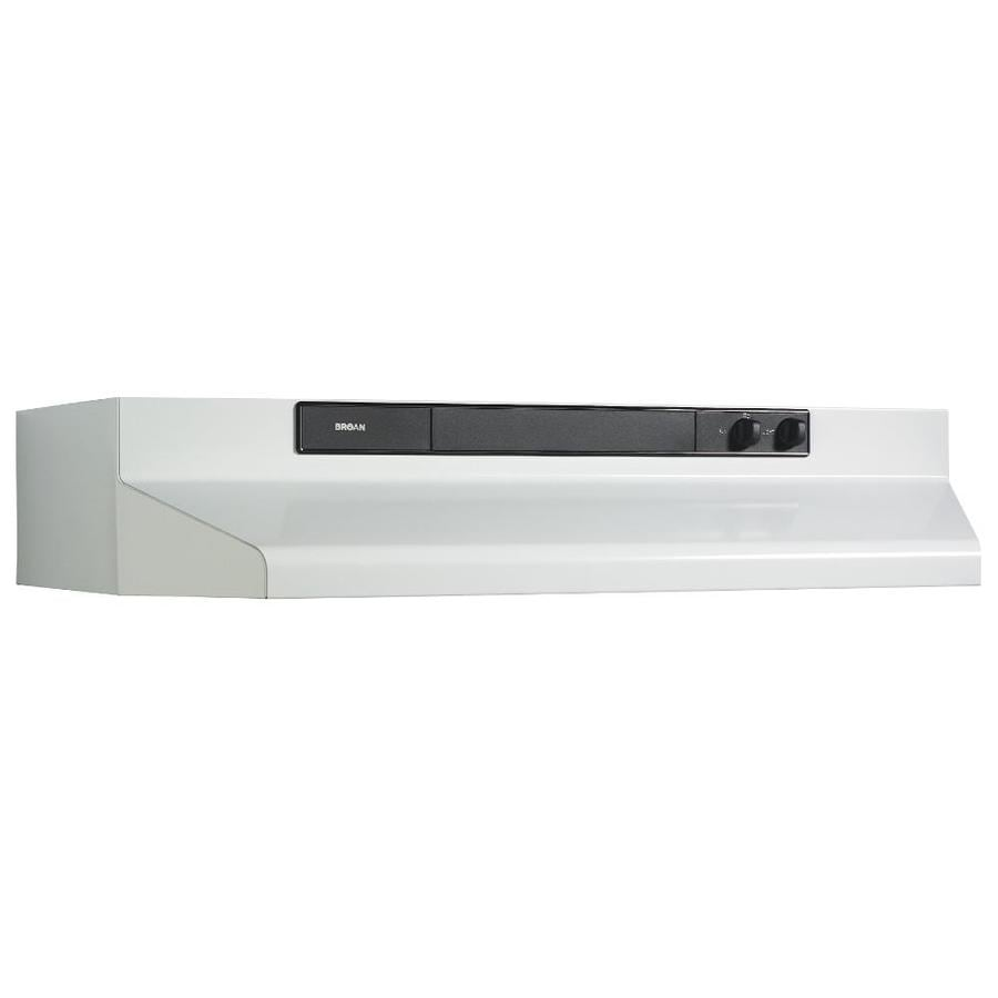 Broan Undercabinet Range Hood (White/Black) (Common: 36-in; Actual: 35.87-in)