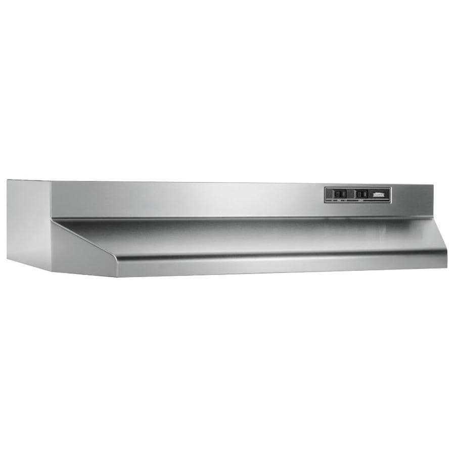 Broan Undercabinet Range Hood Stainless Steel Black Common 30 In