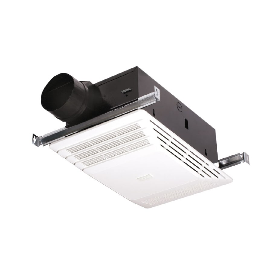 Shop broan 4 sone 70 cfm white bathroom fan at for Bathroom exhaust fan lowes
