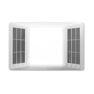 Broan 655 659 And 656 Series 25 Sone 50 Cfm White Bathroom Fan And Heater With Heater