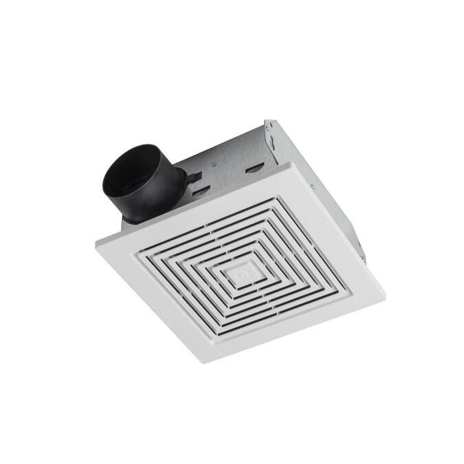 Broan Ventilation Fan 3 5 Sone 50 Cfm White Bathroom Fan In The Bathroom Fans Heaters Department At Lowes Com