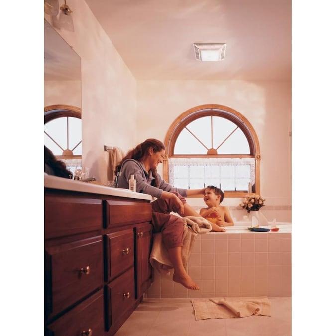 Broan 3.5-Sone 70-CFM White Bathroom Fan in the Bathroom ...