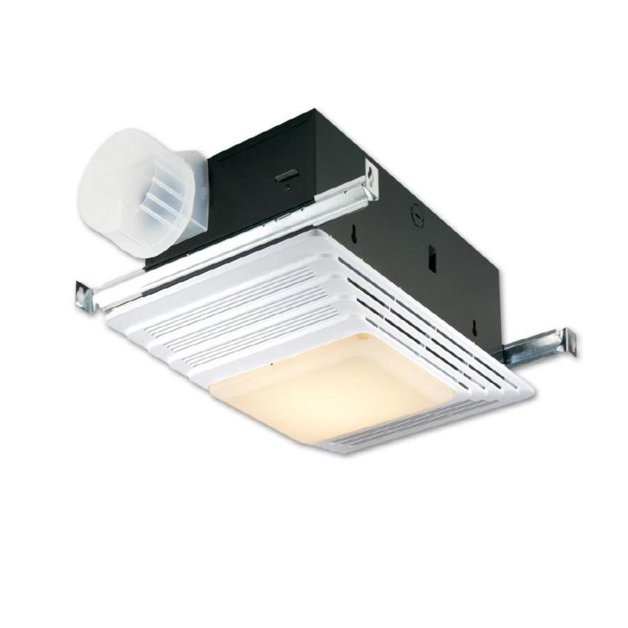 Broan 4.5-Sone 100-CFM White Bathroom Fan with Light