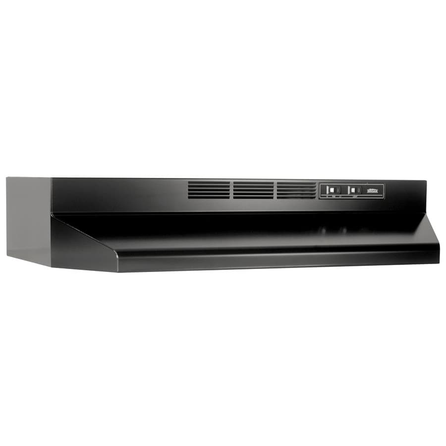 Shop broan undercabinet range hood black common 30 in for Broan range hood
