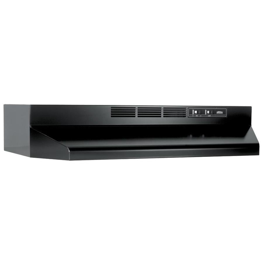 Shop Broan Undercabinet Range Hood Black Common 36 In