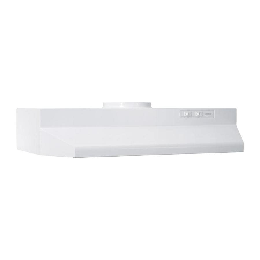 Broan Undercabinet Range Hood (White Monochromatic) (Common: 24-in; Actual: 23.87-in)