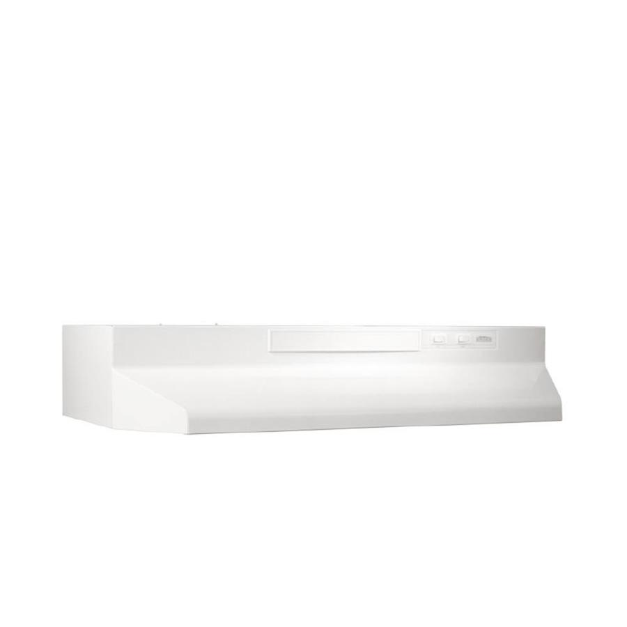 Broan Undercabinet Range Hood (White/Black) (Common: 30-in; Actual: 29.87-in)