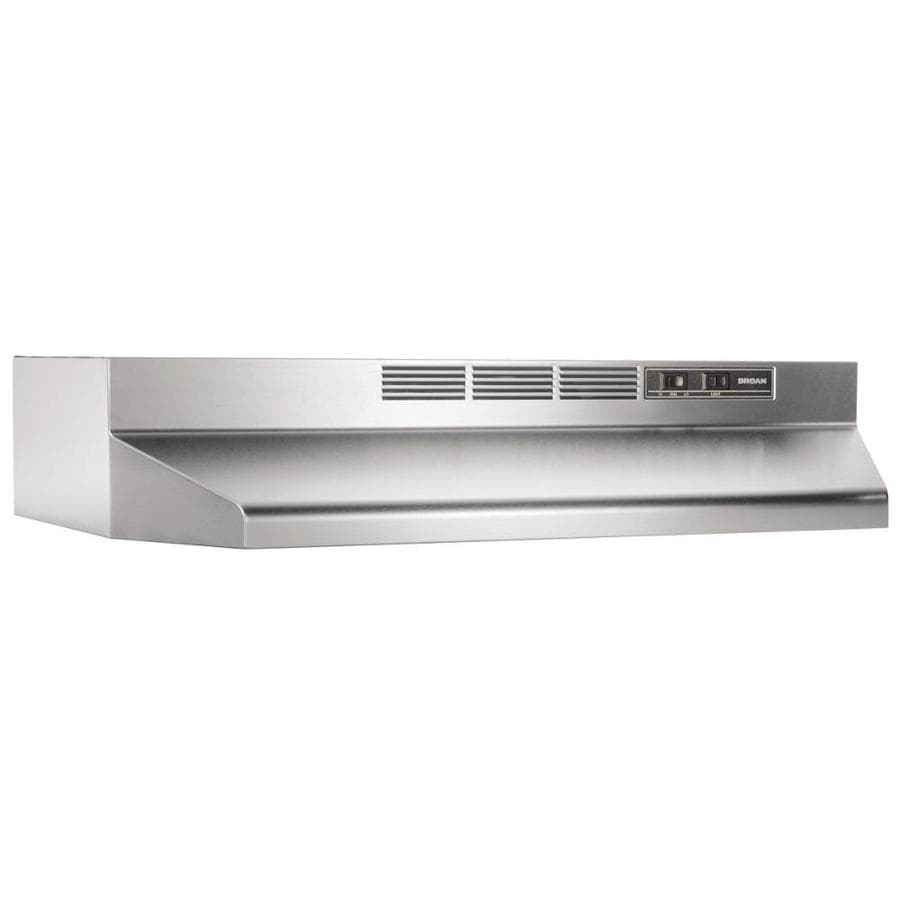 Broan 42-in Ductless Stainless Steel/Black Undercabinet ...