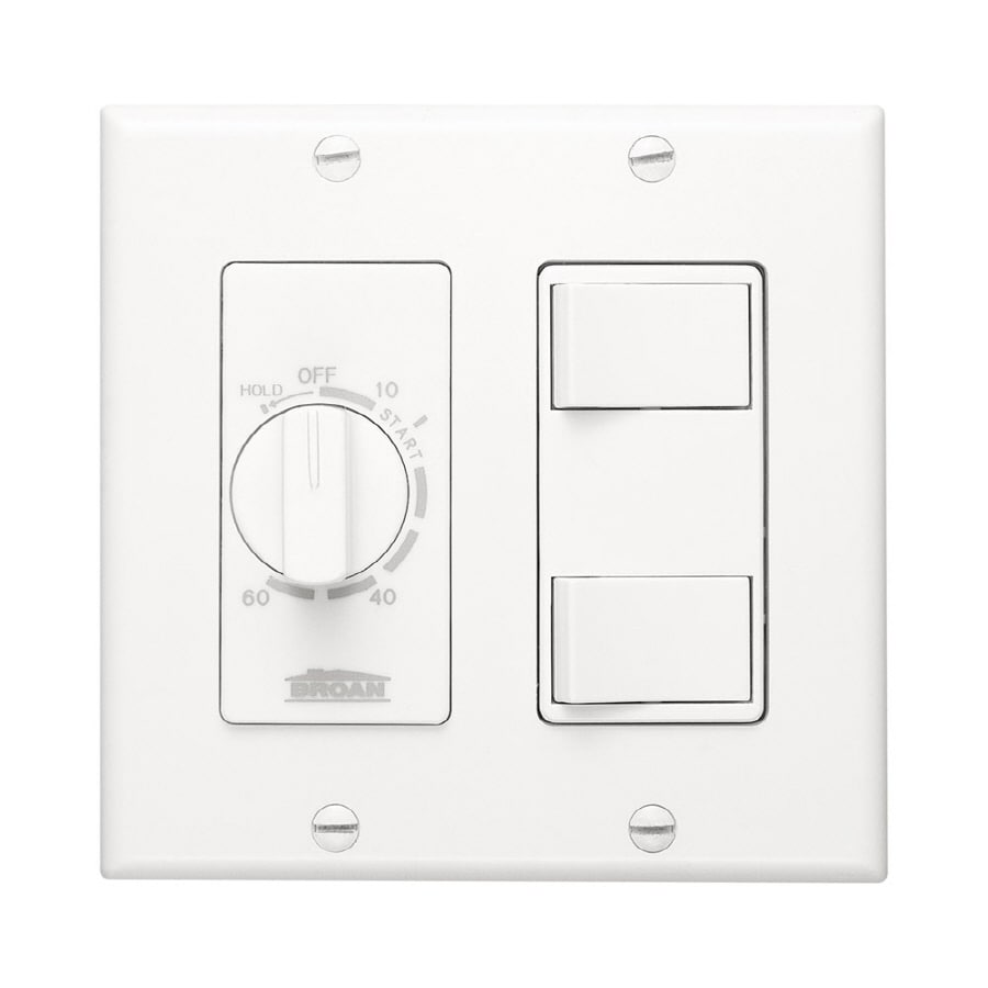 Broan Decorative Wall Controls 3-Switch 20-Amp Single Pole White Indoor Light Switch