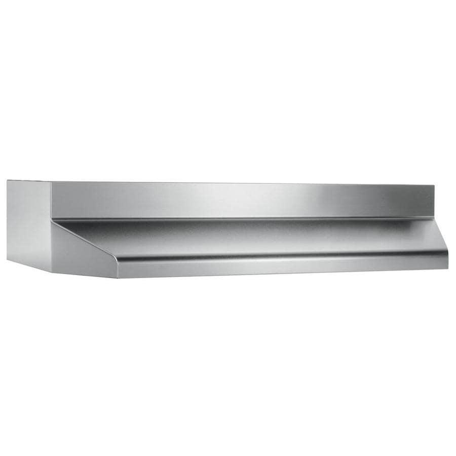 Broan Undercabinet Range Hood (Stainless Steel/Black) (Common: 36-in; Actual: 35.87-in)