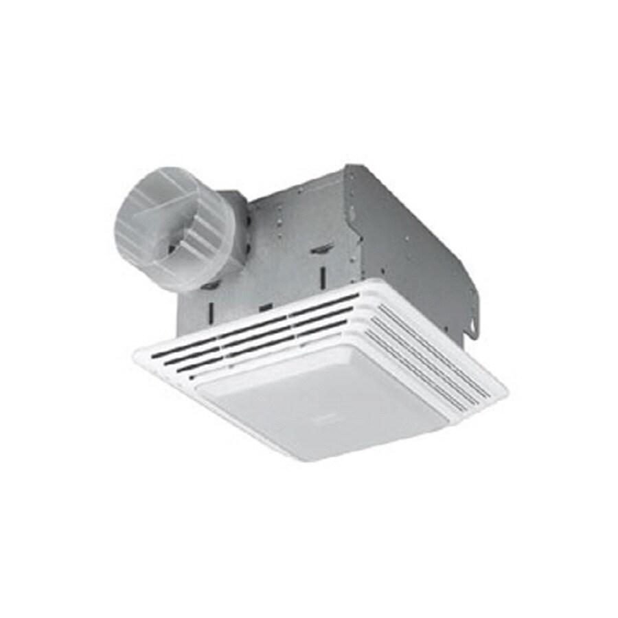 Broan 1.5-Sone 50-CFM White Bathroom Fan with Light