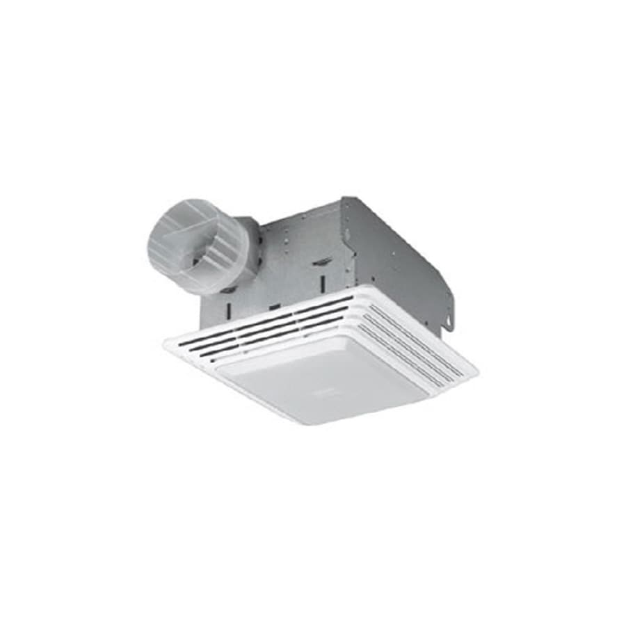 2 Bulb 80 Cfm Ceiling Bathroom Exhaust Fan With Light And: Shop Broan 2.5-Sone 80-CFM White Bathroom Fan At Lowes.com