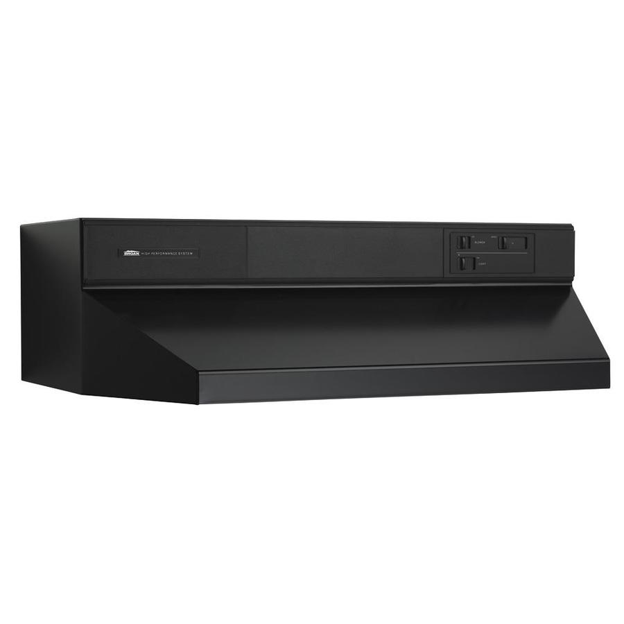 Broan Undercabinet Range Hood (Black) (Common: 48-in; Actual: 47.87-in)
