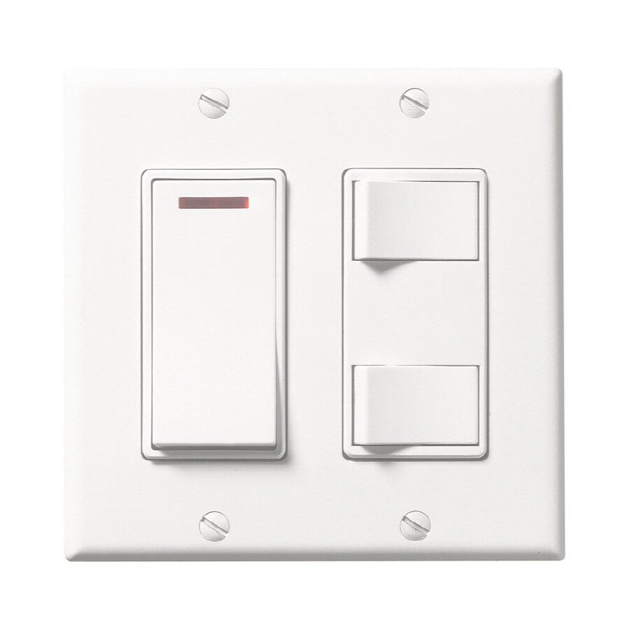 Shop broan decorative wall controls 3 switch 15 20 amp for Bathroom 15 or 20 amp