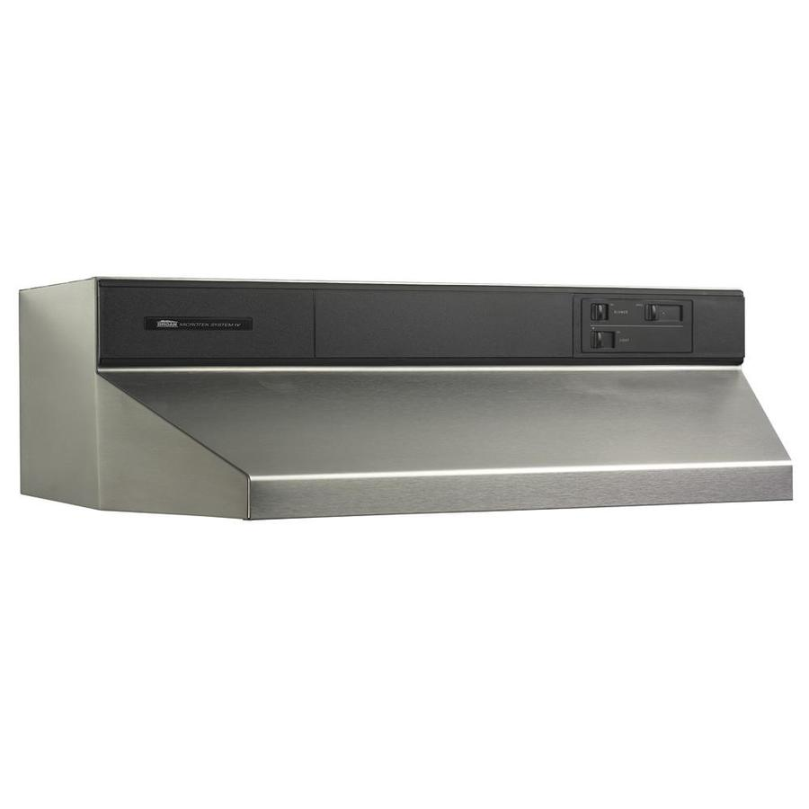 Broan Undercabinet Range Hood (Stainless steel/Black) (Common: 39-in; Actual: 38.87-in)