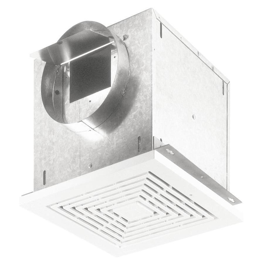 Broan 0.9-Sone 109-CFM White Bathroom Fan