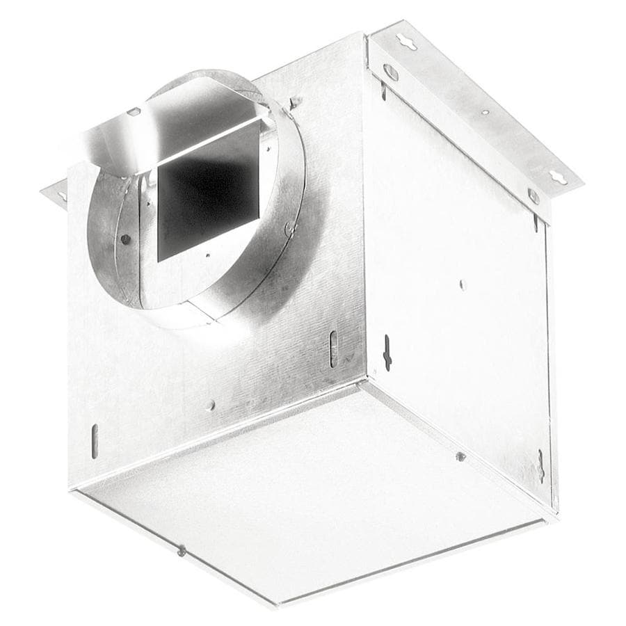 Shop broan 245 cfm white bathroom fan at for Bathroom exhaust fan lowes