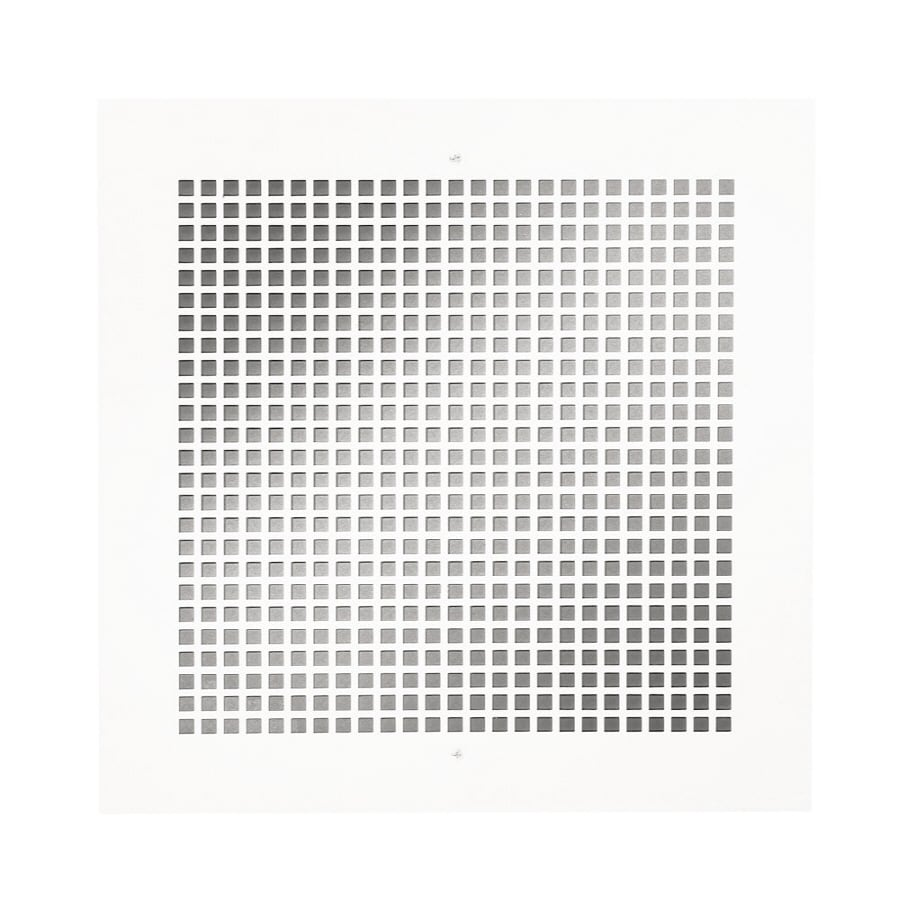 Broan White Steel Perforated Sidewall/Ceiling Grilles (Rough Opening: x; Actual: 14-in x 14-in)