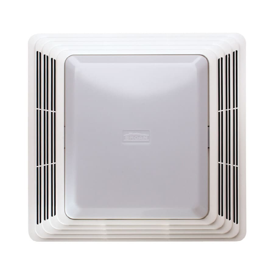 bathroom lights and fans shop broan 4 sone 100 cfm white bathroom fan with light at 16149