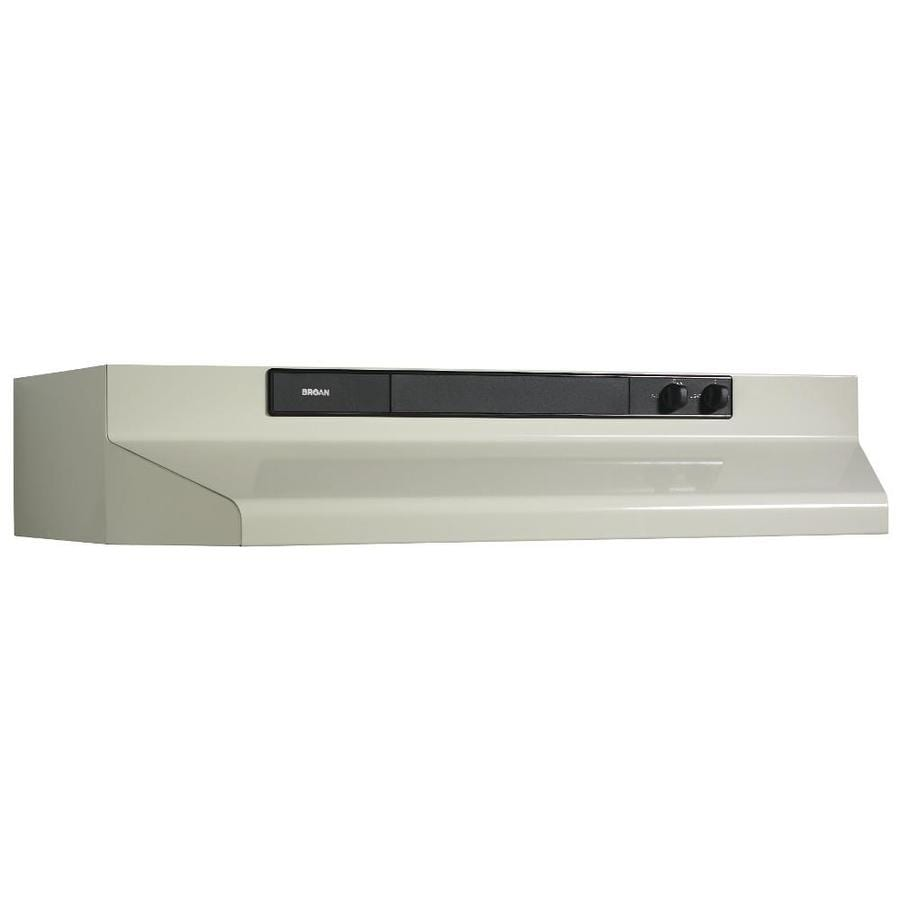 Shop Broan Undercabinet Range Hood Bisque Black Common