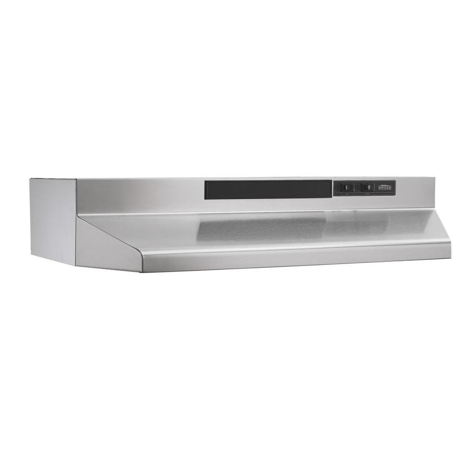 Broan Undercabinet Range Hood (Stainless Steel/Black) (Common: 36-in; Actual: 35.87-in)