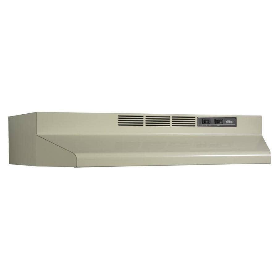 Broan Undercabinet Range Hood (Almond/Black) (Common: 36-in; Actual: 35.87-in)