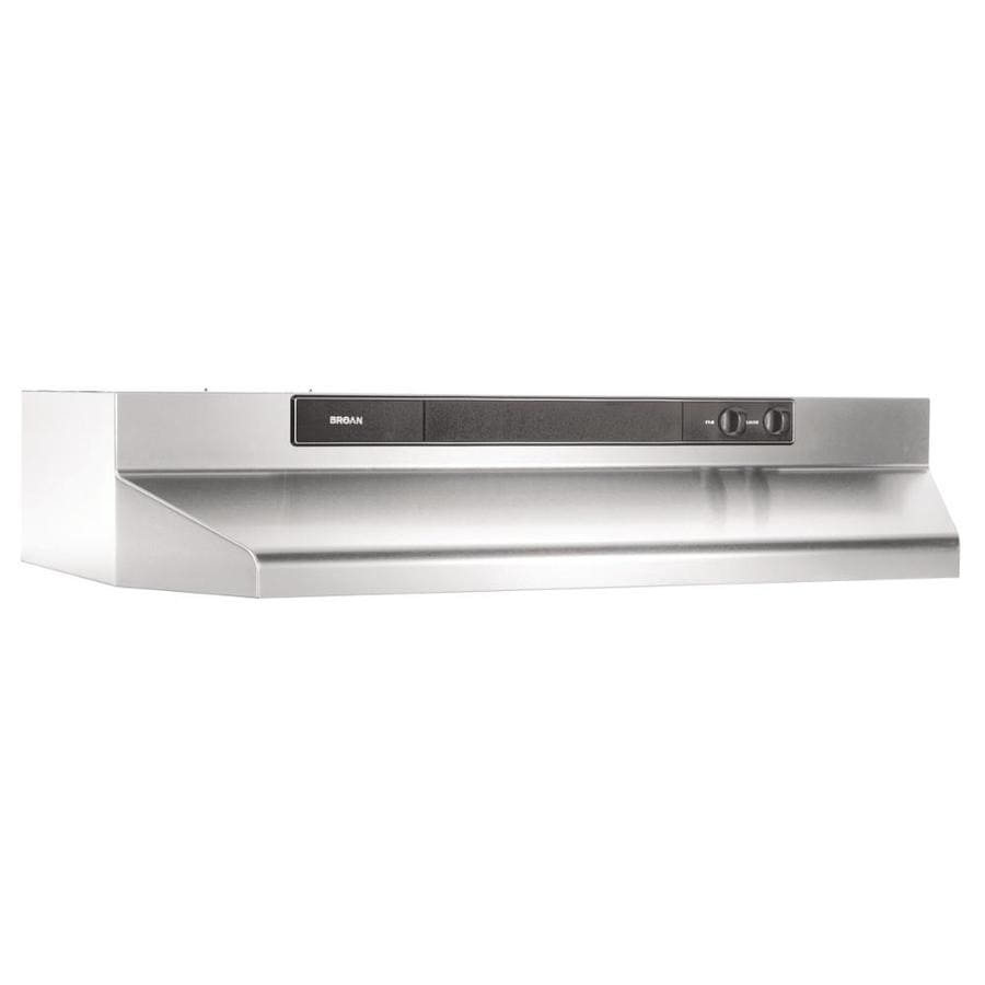 Broan Undercabinet Range Hood (Stainless steel/Black) (Common: 24-in; Actual: 23.87-in)