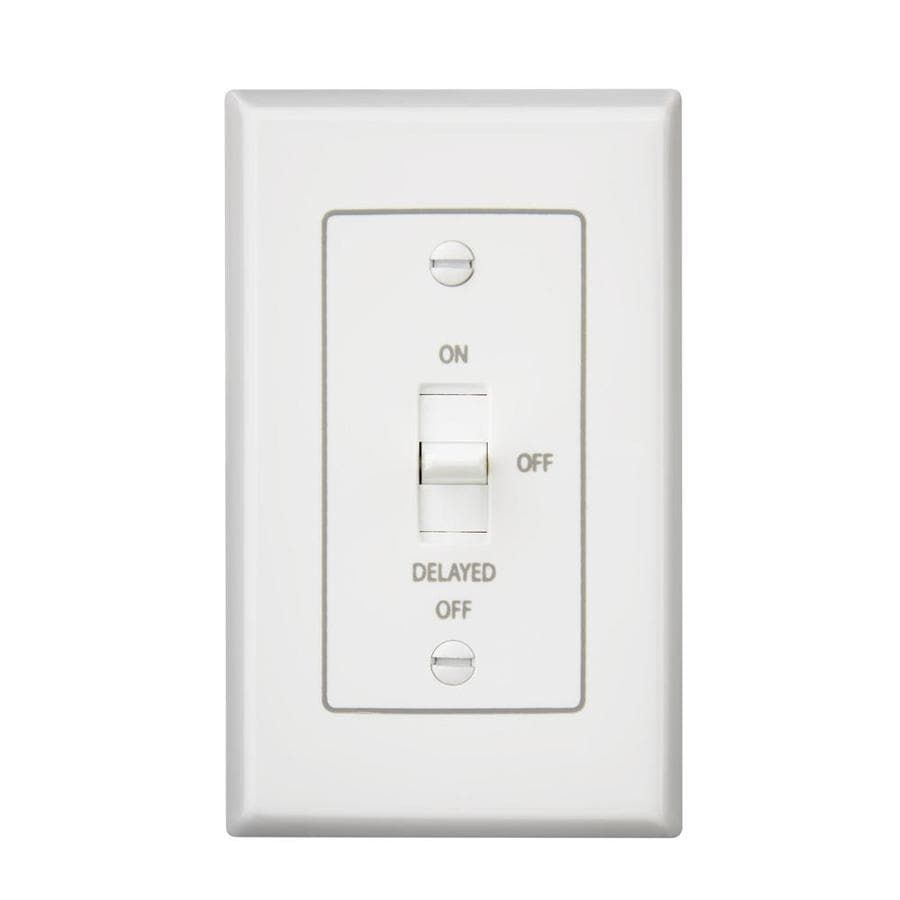 Broan Decorative Wall Controls 4-Amp Single Pole White Indoor Toggle Light Switch