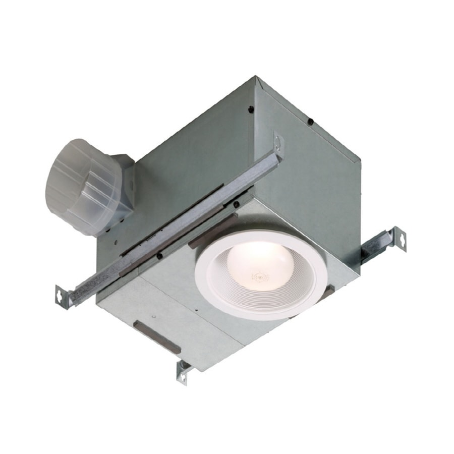 Broan 1 5 Sone 70 CFM White Bathroom Fan with Incandescent Room Light. Shop Bathroom Fans at Lowes com