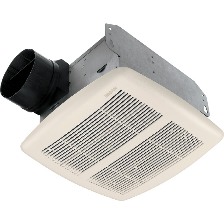 Shop broan 2 5 sone 80 cfm white bathroom fan at for 2 bathroom exhaust fan venting